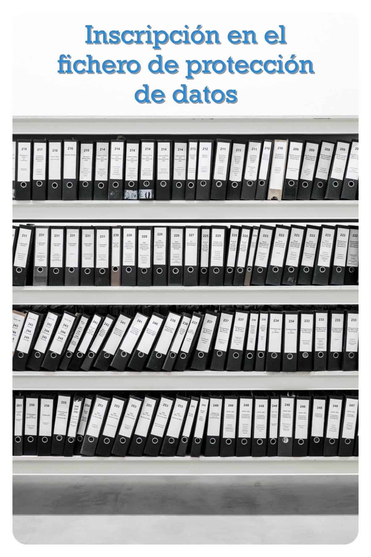 Inscripción protección de datos