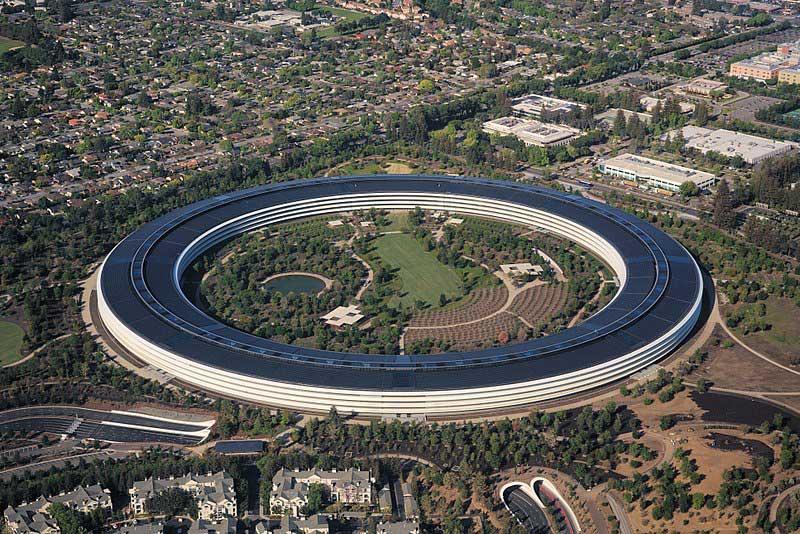 Apple Park desde el cielo