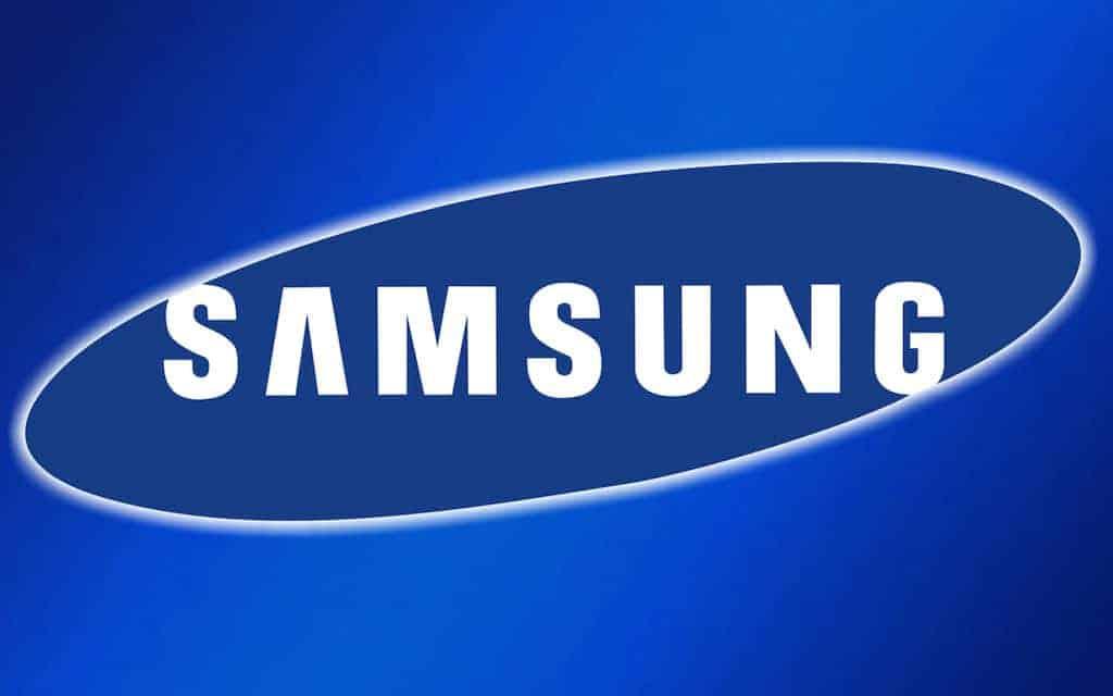 Logo de samsung pantalla nueva