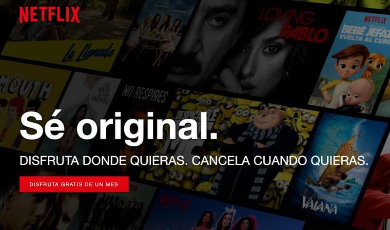 Cuenta mes gratis Netflix