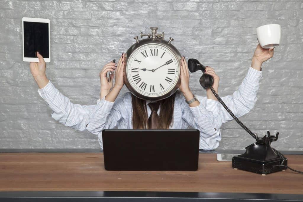 No ser eficiente en el trabajo tareas