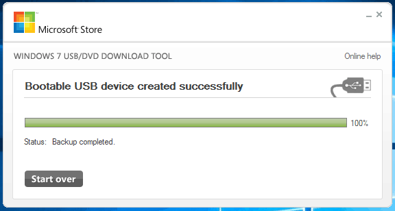 Crear booteable con Windows USB/DVD Download Tool
