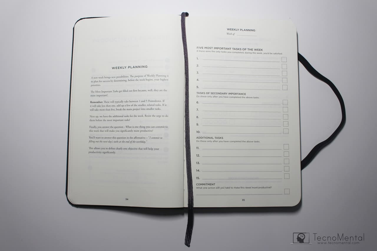 Organizador con planner semanal