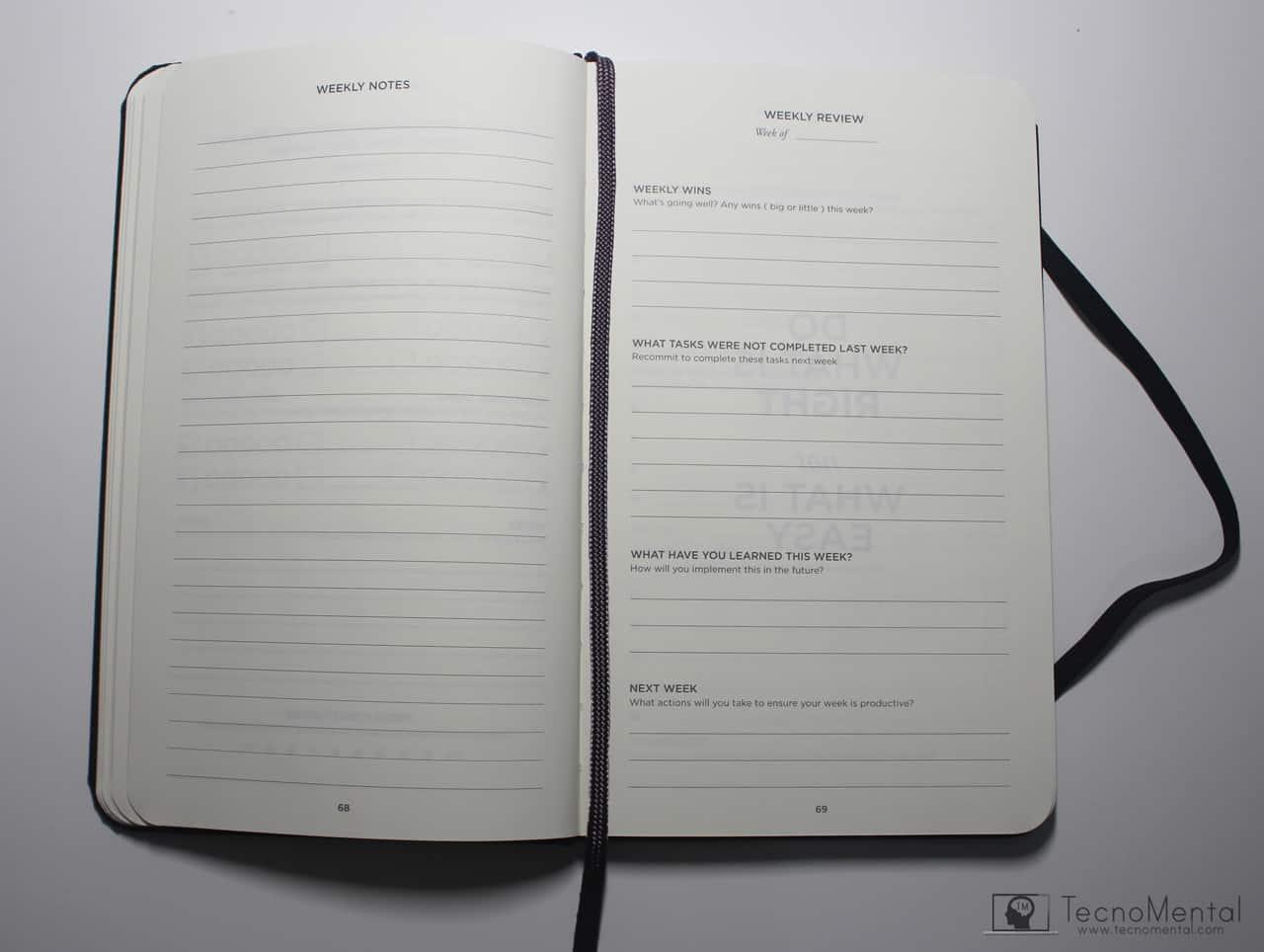 Realizando planning semanal weekly